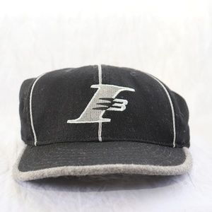 I3 Iverson Fitted Hat Reebok Black Grey Size 7 1/4